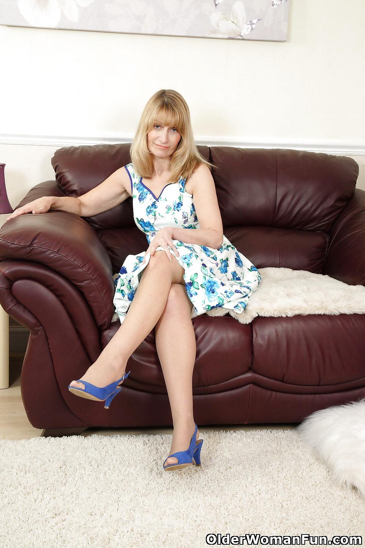 56 year old British milf Ila Jane from OlderWomanFun