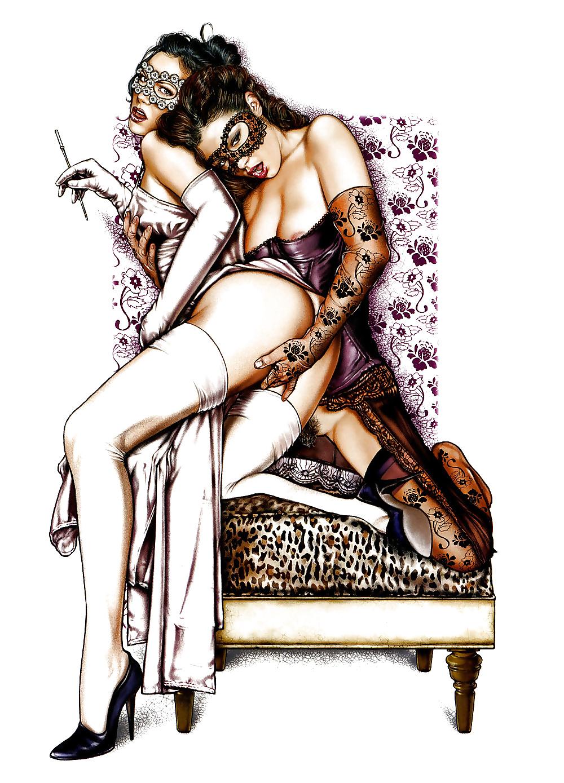 лесбиянство в рисунках - 2