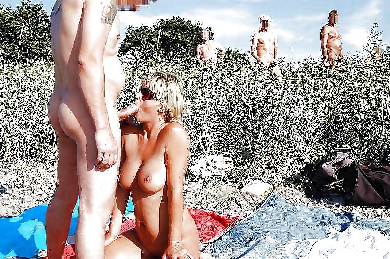Домашнее порно на пляже обнажение на публике работа руками жены