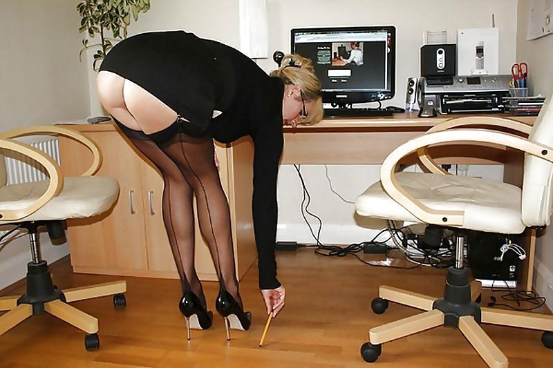 Office Upskirt Handjob