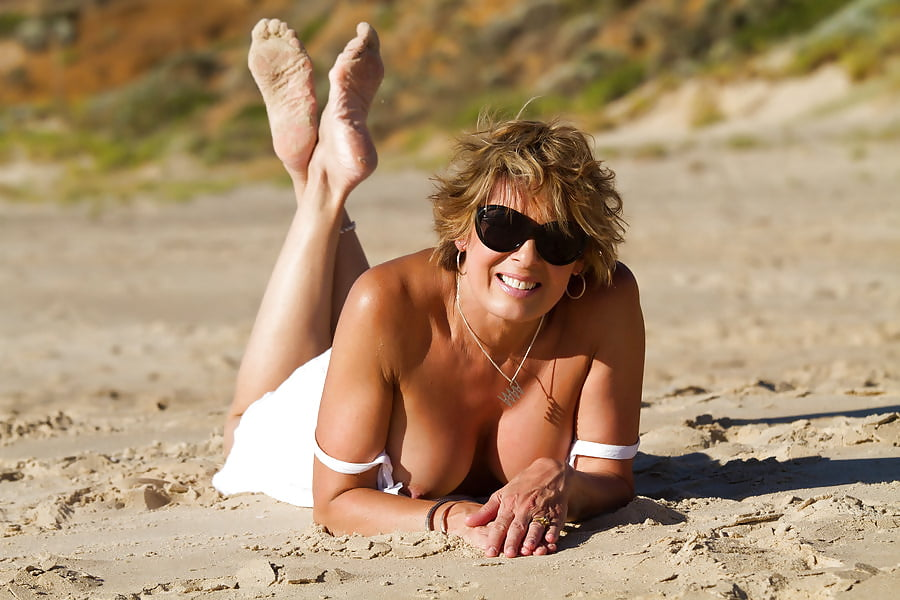 Beautiful milf nude beach