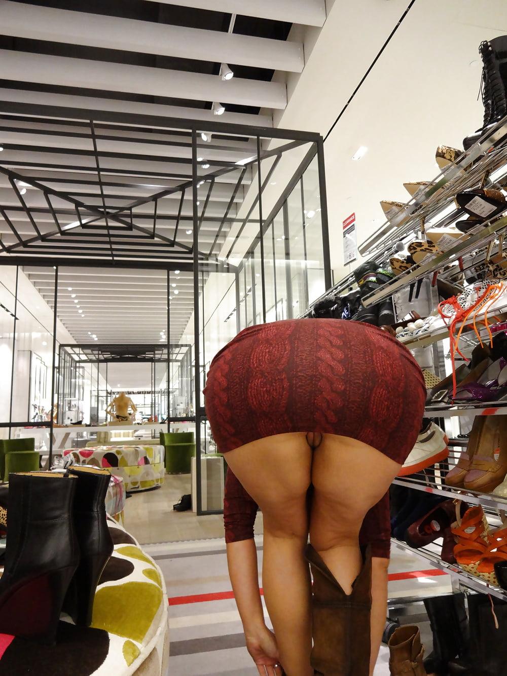 Upskirt voyeur in the shopping centre