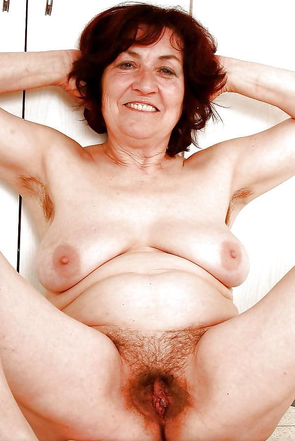Nude old hairy women