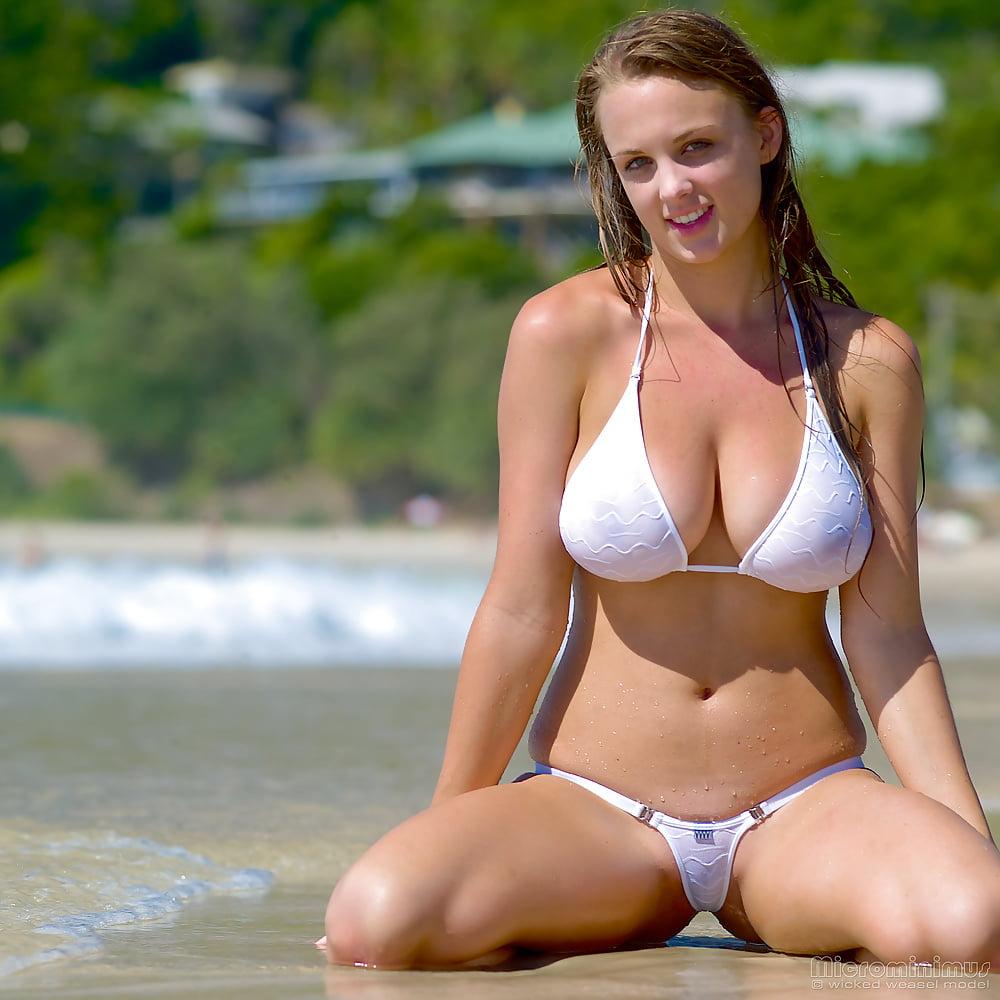 Big boobs beach pics