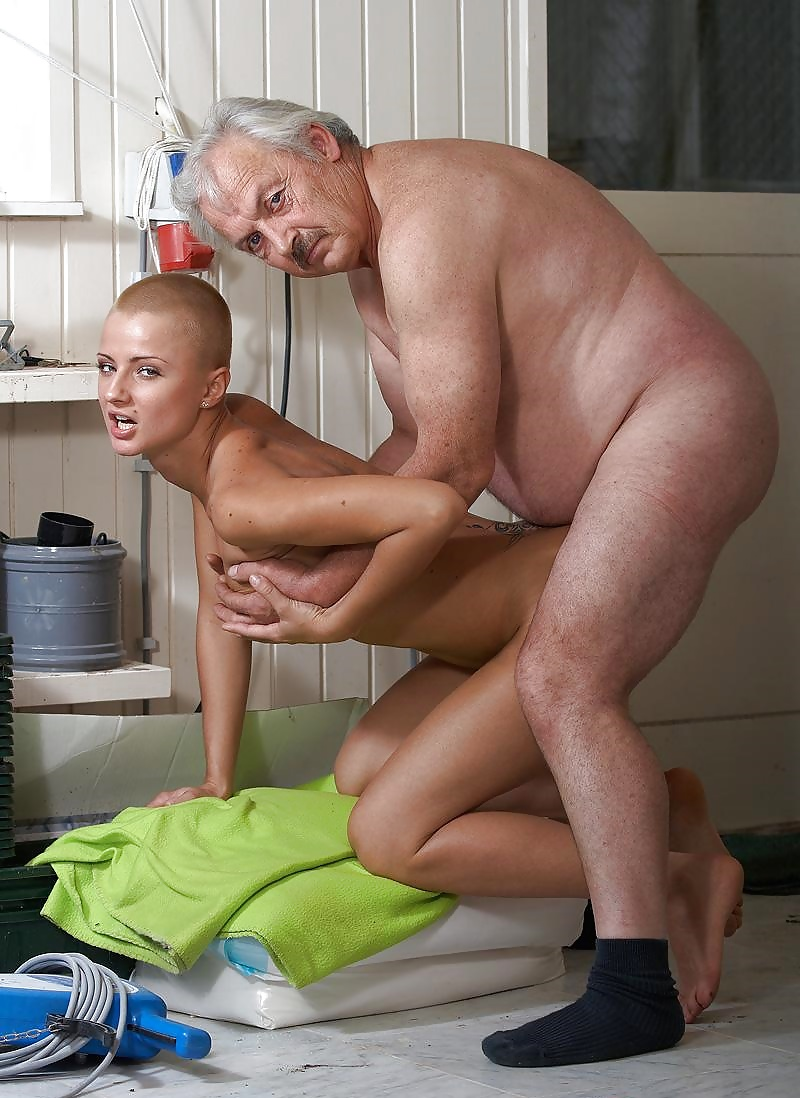 Cute Blonde Granddaughter Fucks With Grandfather On Bed