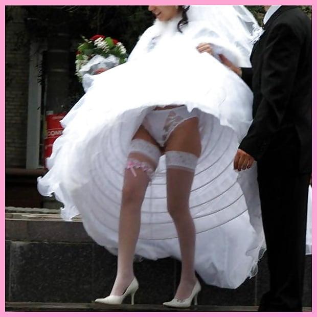 Трусики невест под юбкой 8