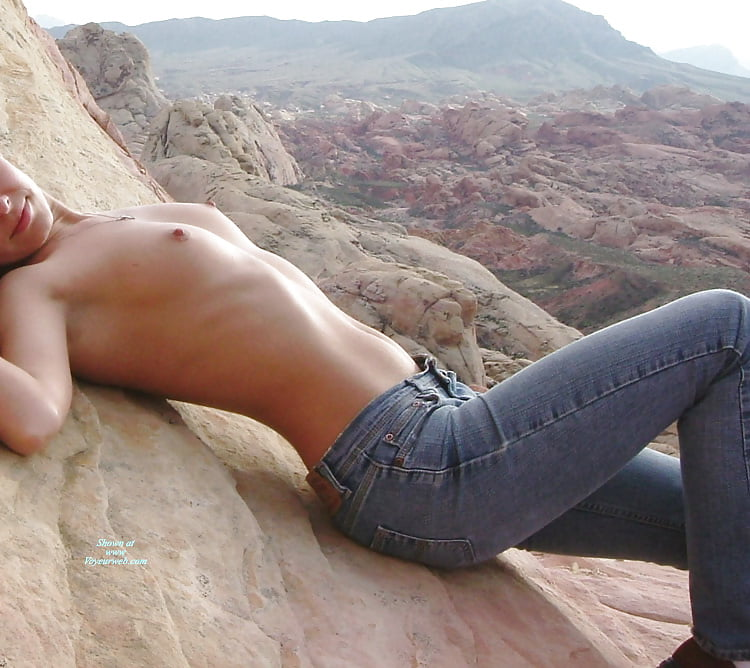 Hot topless girl wearing jeans #3