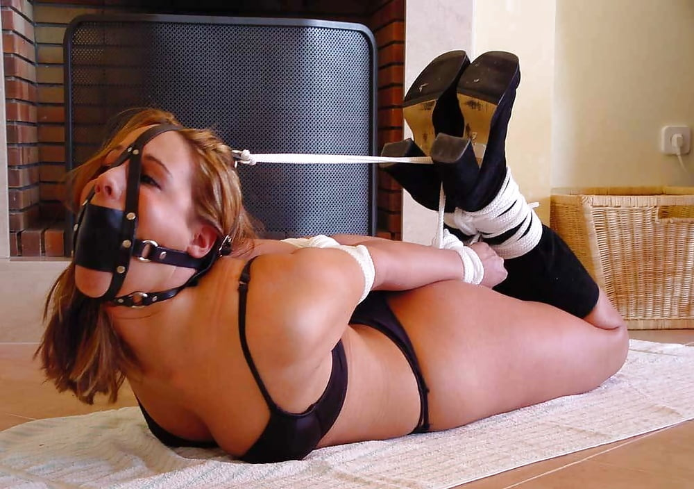 Enchantress sahrye blindfolded, tape self bondage struggle