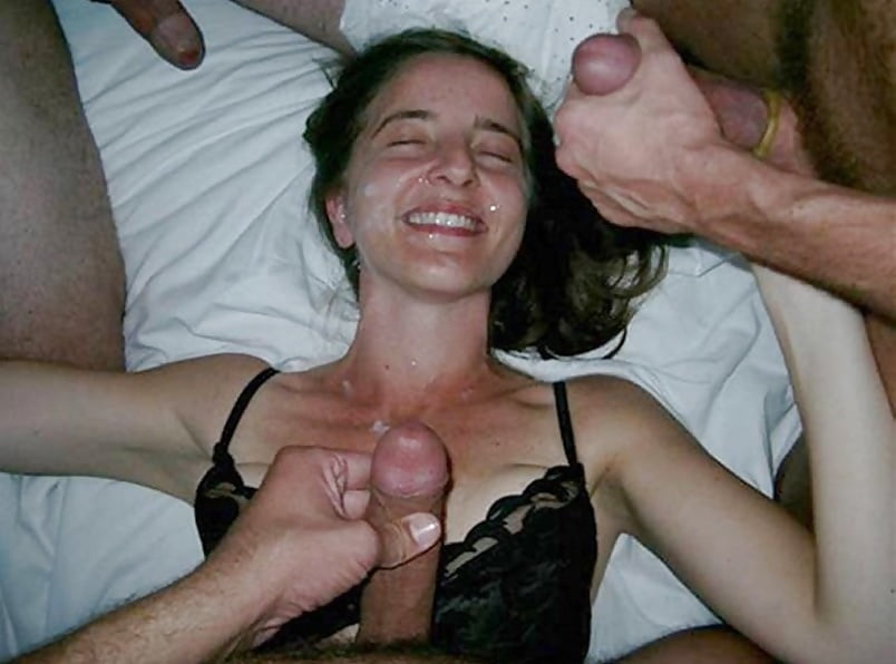 Horny wife bitch sharing cock with stranger by my friend