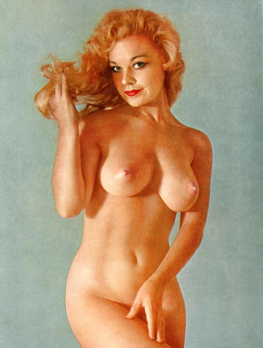 Vintage naked sweethearts posing in the fifties