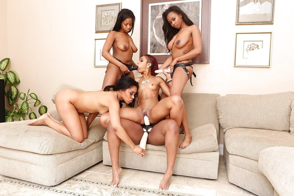 Lesbian orgy seduction