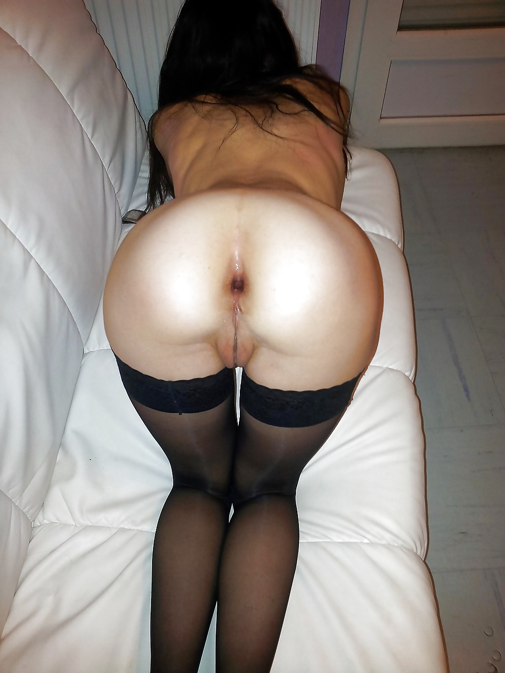 Amateur stockings naked ass — photo 4