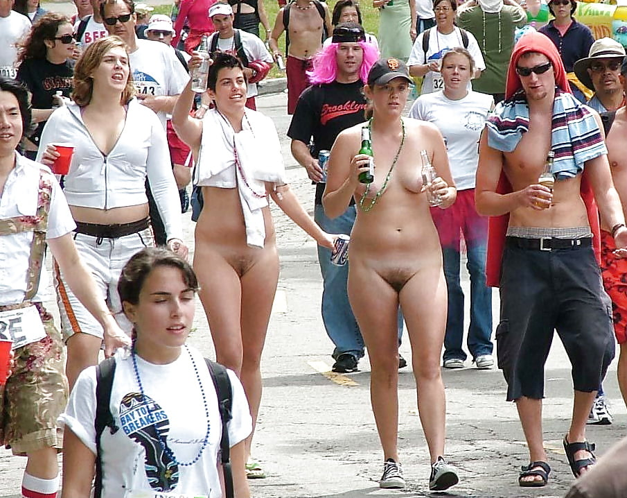 Naked girls at events Rare Bottomless Girls At Public Nude Events Photo 3
