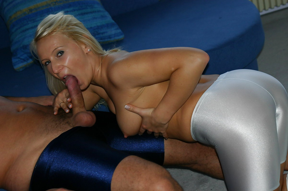 Laf oiled up then lycra ripped open and cum