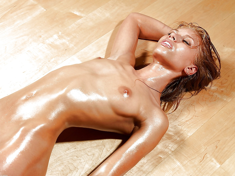 Oiled up girl video
