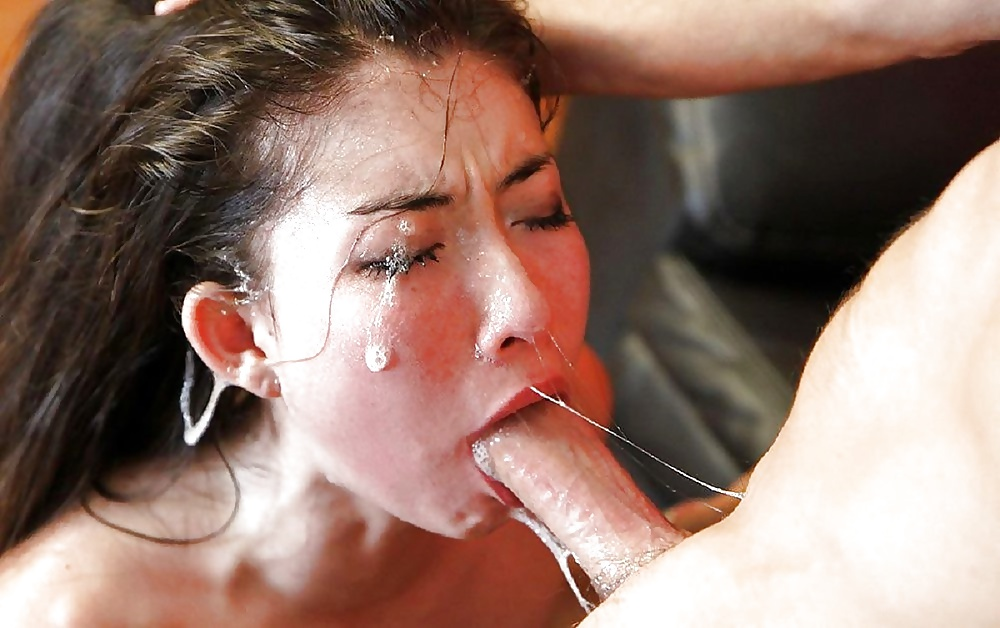 Choking on cumshot
