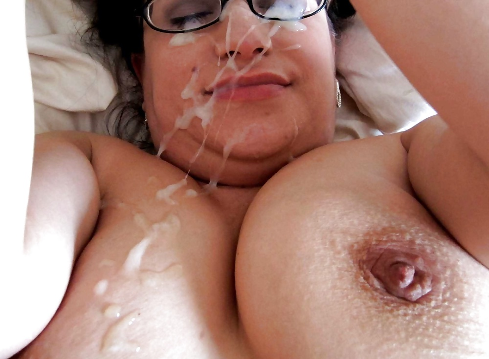 Cum on chubby boobs — 15