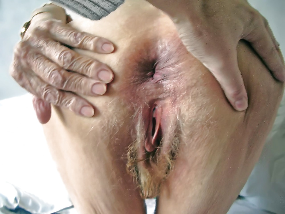 Granny old ass holes pussy