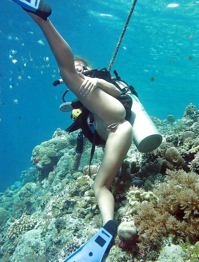 Chris and elissa go scuba diving