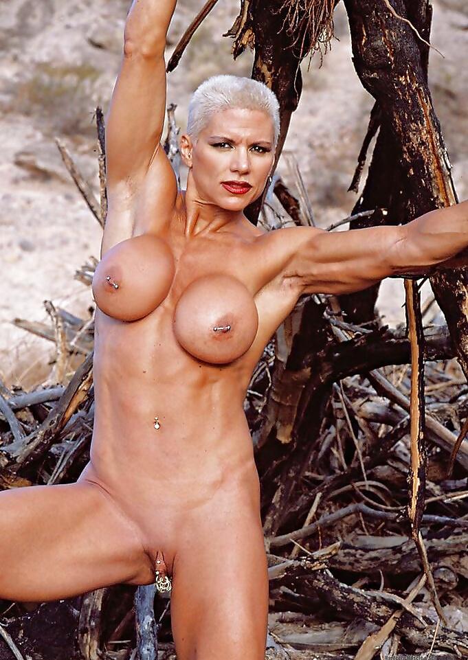 Muscular Goddess On Heavenly Beach