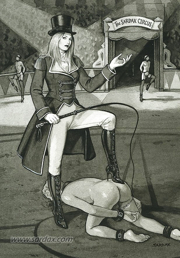 Femdom cartoon mask cunnilingus pussyeating whip boots blindfold