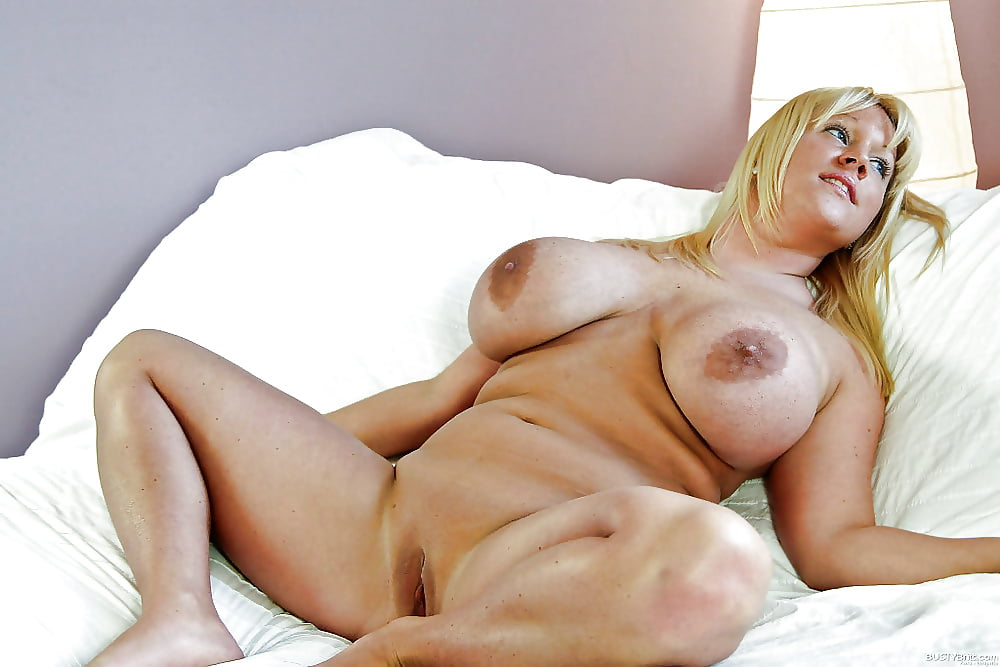 Fat hairy busty mature blonde milf with large areolas