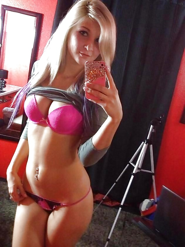 Sexy blonde with perfect body self shot russian sexy girls