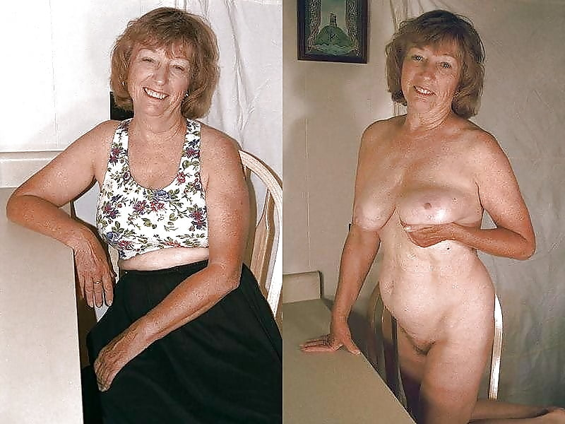 Beautiful Granny Dressed Undressed