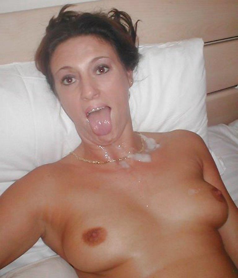 Mature sexy amateur wife facials