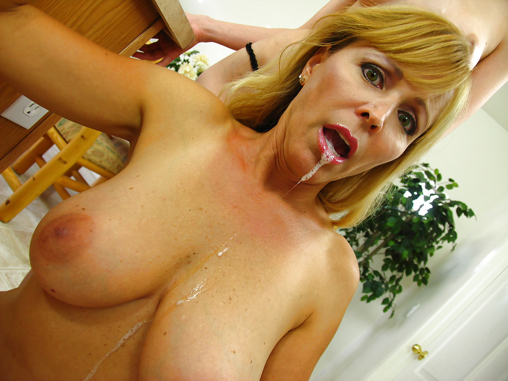 Hot busty lesbian milf