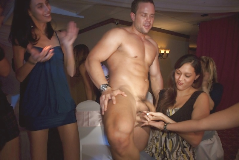 Bachelorette party nude men masturbation