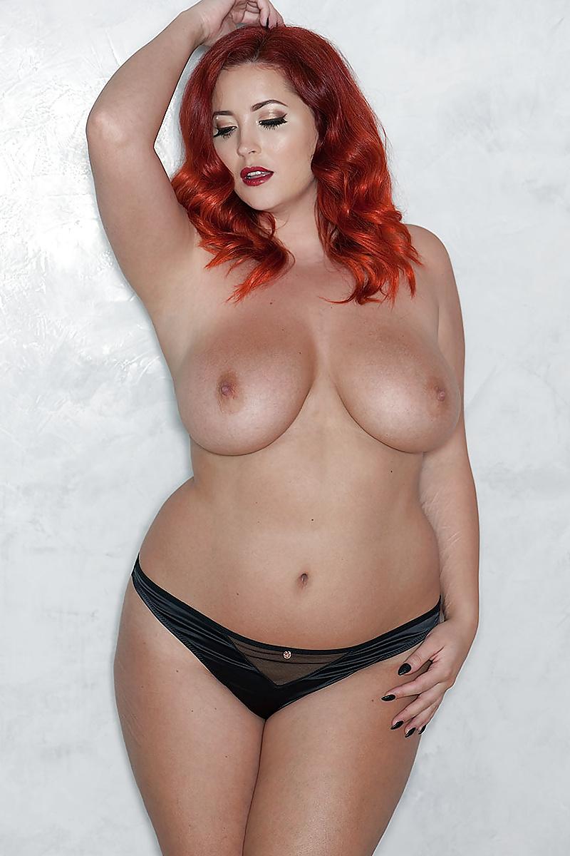 Curvy milky redhead
