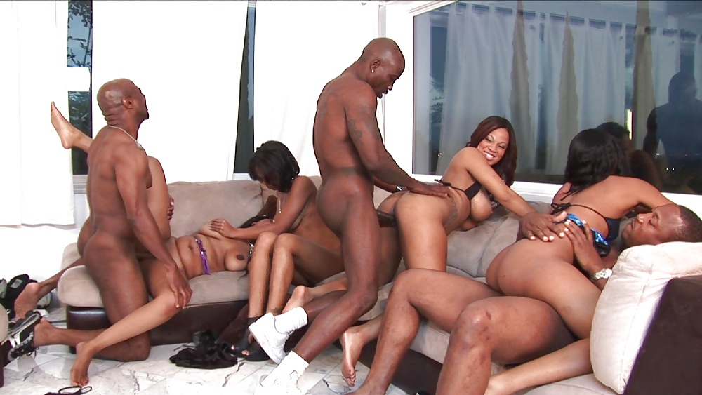 African woman with white men nude