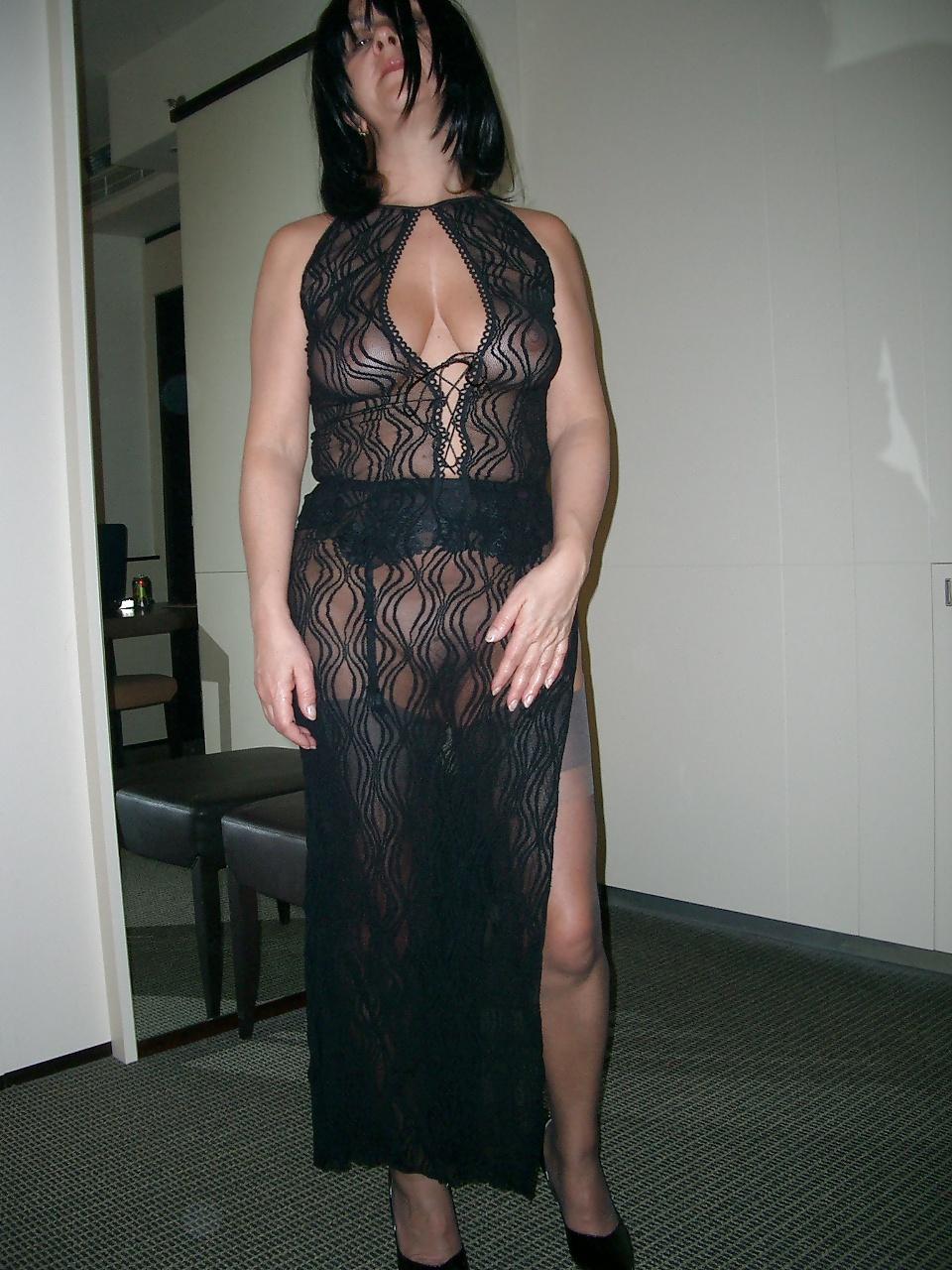 Sexy Black Girl Smoking In See Through Dress