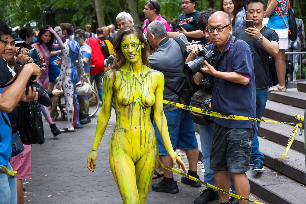 Body paint public HQ porn search