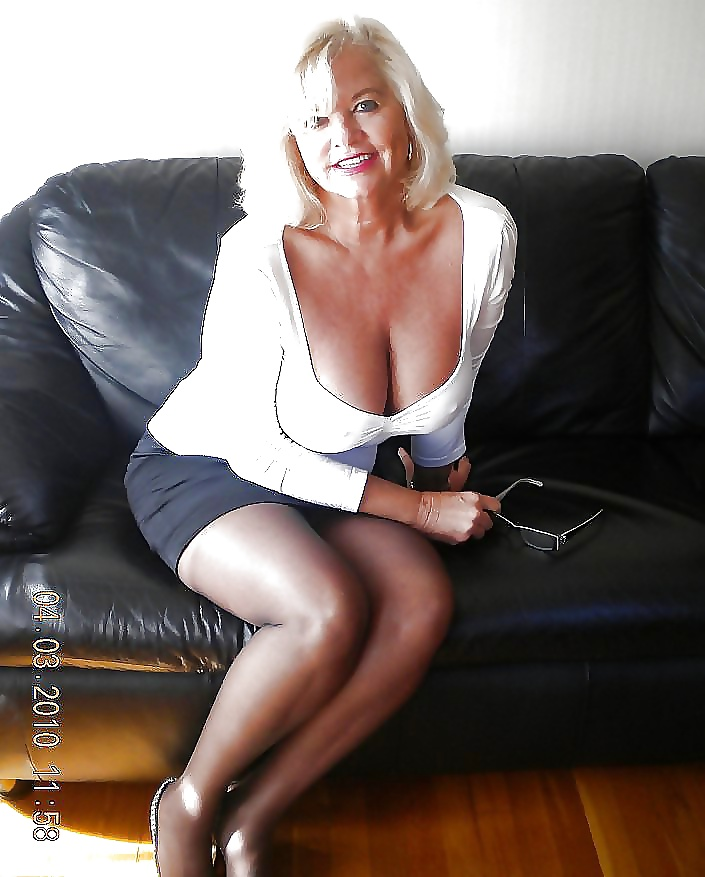 Pretty Mature Woman Stock Image