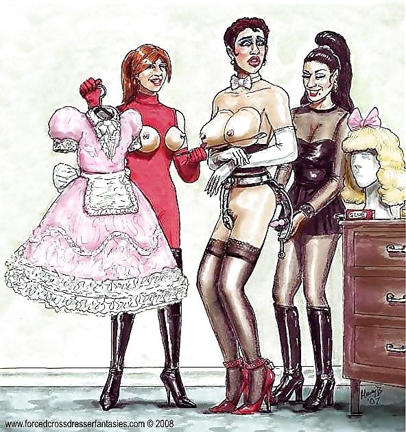 Femdom forced feminization tgirl makeover