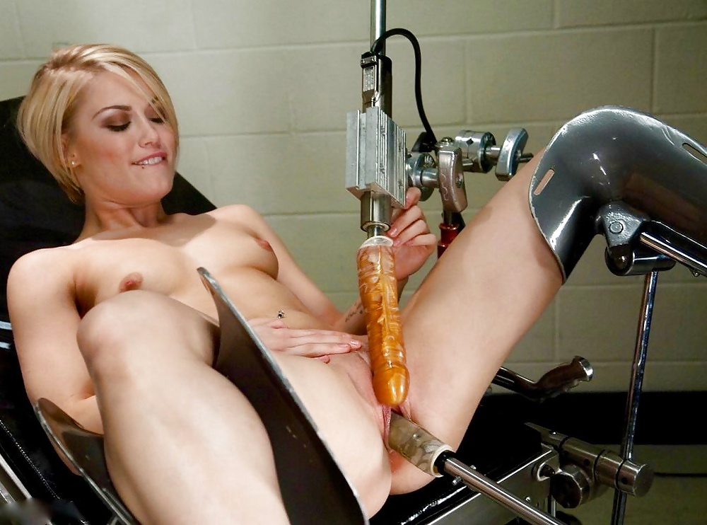 Women tied up and machine fucked