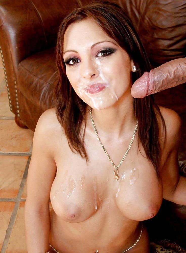 Large cum on tits