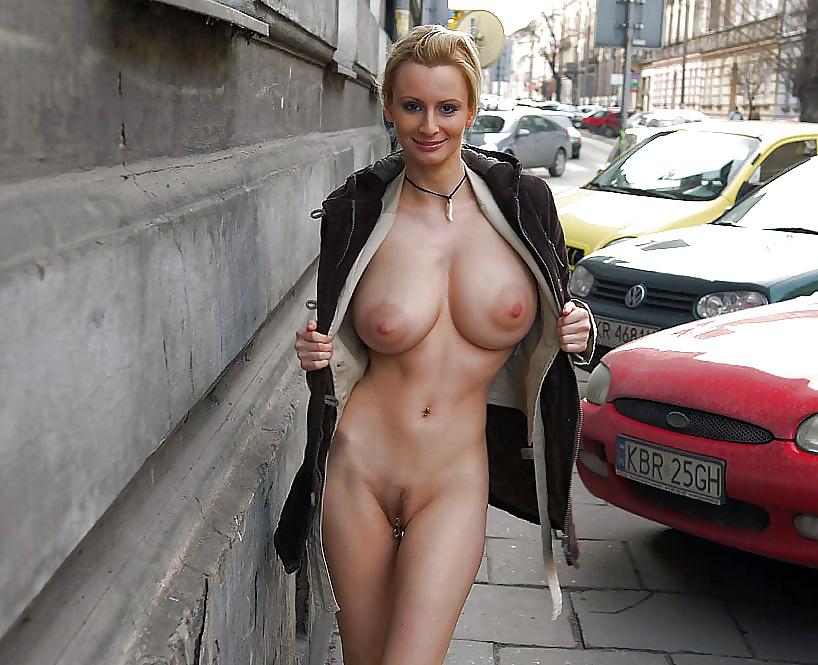 Big Tits Blonde Street Voyeur