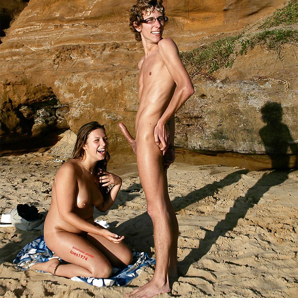 член встал на пляже фото стране