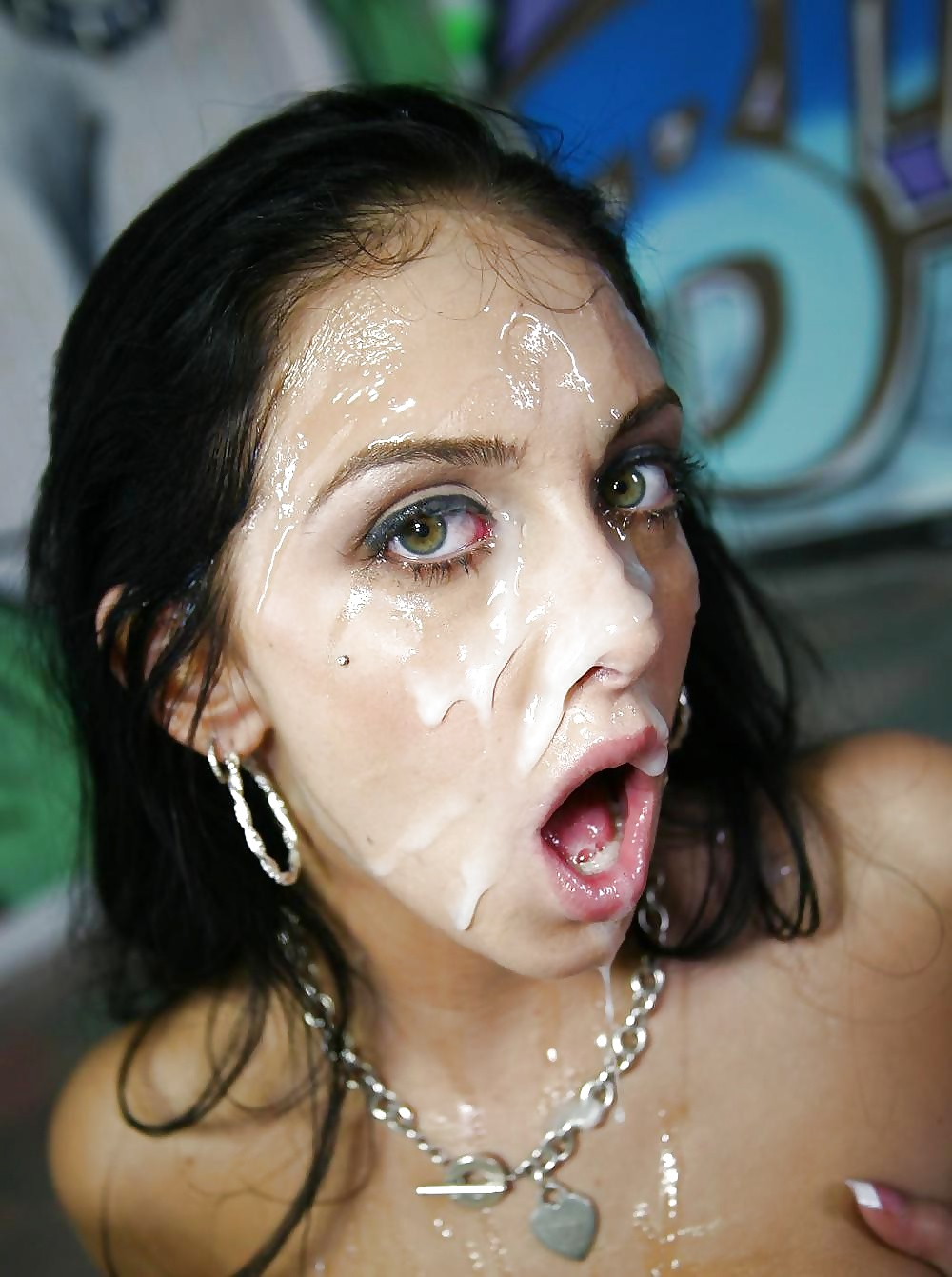 Veronica leal gets covered in messy cum after hard anal pounding picture