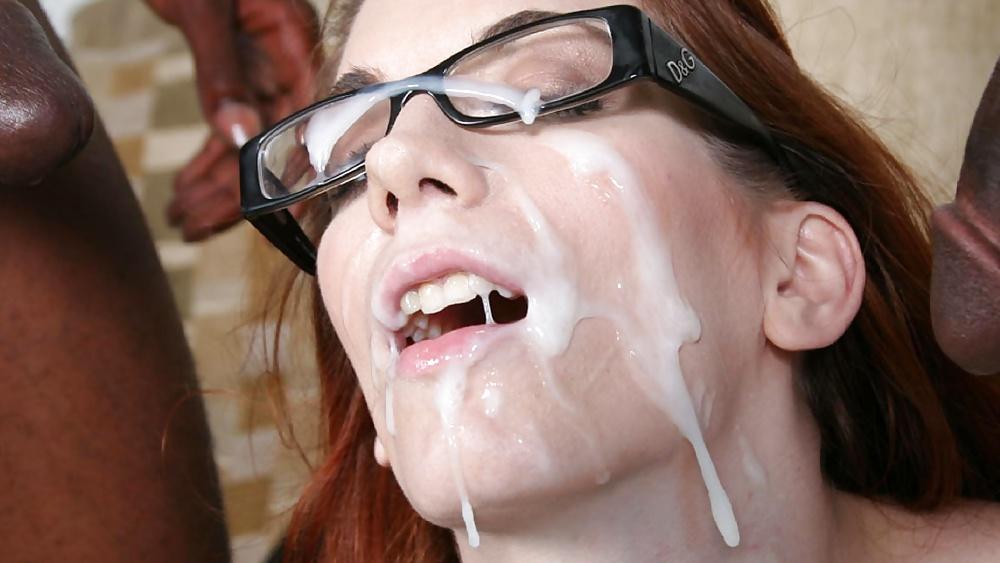 Girl cum on face