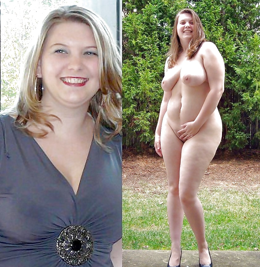 Chubby Dressed Undressed Pregnant