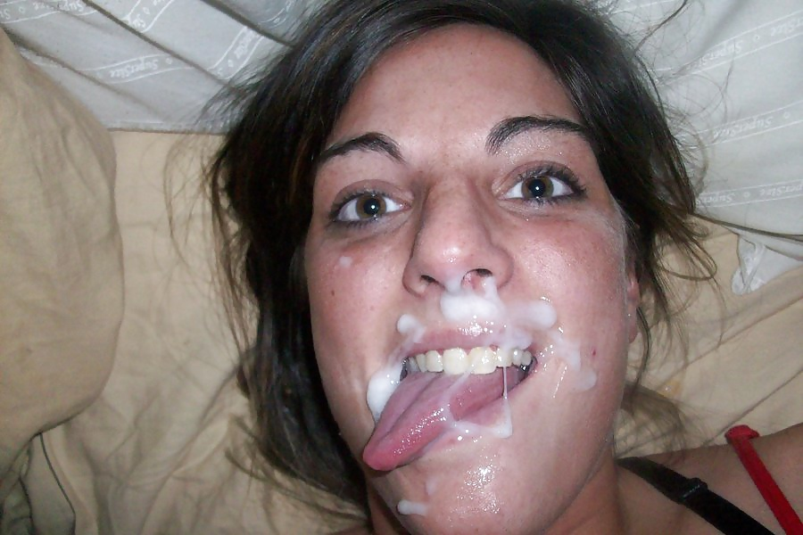 Amateur girlfriend cum face