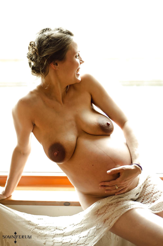 Early pregnancy symptoms sensitive breasts darkening stock vector