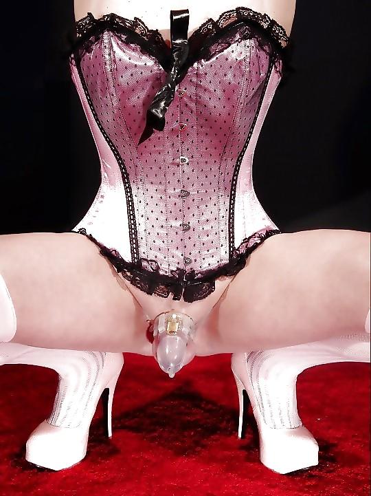 Chastity belt bondage corset