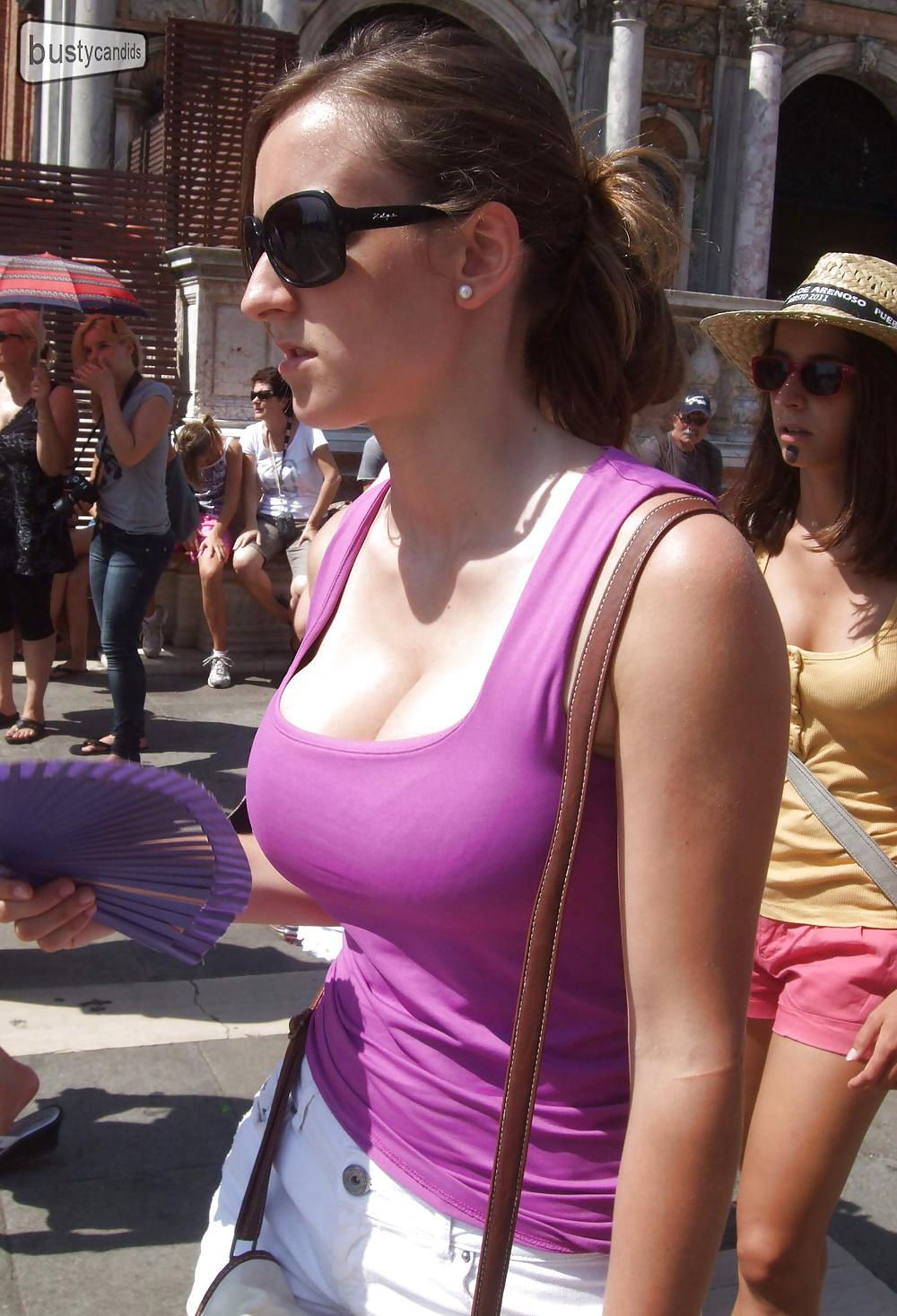 Big boobs candid