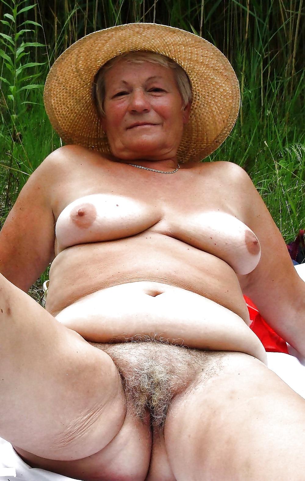 Old granny ripe hairy