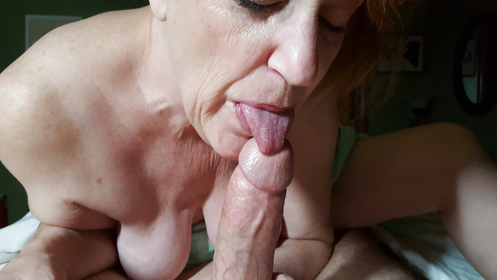 Old Slut Sucks And Jerks Off A Cock